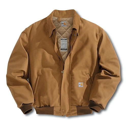 Carhartt Style #: FRJ195 Men�s Flame-Resistant Duck Bomber Jacket/Quilt-Lined FRJ195